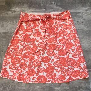 J. Crew floral skirt size 6.